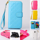 Luxury Stand Flip Wallet Cute Glossy Skins Case Cover For Samsung Galaxy Phone
