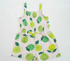 Girls Toddlers Fruit Print Playsuit Summer Kids Shorts Hoilday Casual 12m-6y New