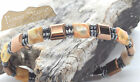 HANDMADE IN USA Magnetic Sports Bracelet with Ocean Jasper Stones Free Ship
