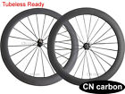 23mm width U Shape 60mm Clincher carbon bicycle wheels Tubeless compatible