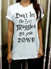 Don't Let The Muggles Gift Harry Potter Womens T Shirt Tshirt Short Sleeve