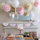 30pcs Tissue Paper Fans Pom Poms Flower Ball Wedding Party Baby Room Decor 3size
