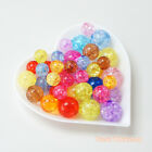 Multi-color 8, 10 & 12mm Round Crackle Acrylic Beads Accessory Craft DIY