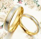 His&Her Gold Titanium Anniversary Wedding Rings 1UK080B3