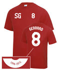 Steven Gerrard Liverpool's Number 8 Tribute Football T-Shirt Adult & Kids Sizes