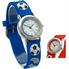 Ravel Kids Childs Soccer Design Watch 3D Silicone Band Football Blue Or Red