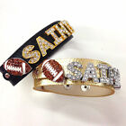 New Orleans Saints Rhinestone Bracelet / Black & Gold Football Inspired Bracelet $12.0 USD on eBay