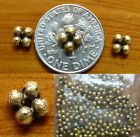 antique gold beads with a lasting bond over copper core 25 gram bag.