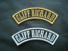 CLIFF RICHARD ROCK N ROLL SEW ON EMBROIDERED SHOULDER PATCH
