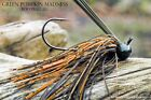 Old Hippy Custom Football Jigs - Green Pumpkin Madness