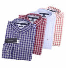 Tommy Hilfiger Men Long Sleeve Custom Fit Button Down Plaid Casual Shirt 0 ship