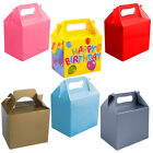 KIDS PARTY BOXES GIFT LUNCH BOX BAGS BLUE PINK FOOD TOYS BIRTHDAY WEDDING FAVOUR