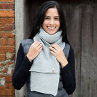 RESULT BUTTON TRIM SCARF ACRYLIC KNITTED 3 Cols WINTER WARM WOMENS MENS LADIES