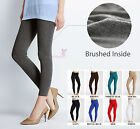 Внешний вид - Women's Solid Winter Thick Warm Fleece Lined Thermal Stretchy Leggings Pants