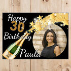 Personalised 18th 21st 30th 40th 50th 60 Happy Birthday PHOTO Poster Banner N54