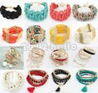 Fashion Women Bracelet Gold Rhinestone Bangle Charm Cuff Jewelry  Lots Styles