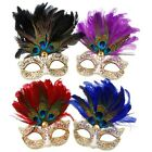 Peacock Feather Venetian Masquerade Mask In 4 Stunning Colours