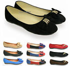 NEW FLAT SHOES WOMENS PUMPS LADIES BALLERINAS BALLET DOLLY BRIDAL WORK SIZE UK