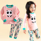 "Vaenait Baby Infant Toddler Kids Girls Clothes  Pajama Set ""Panda Bebe"" 12M-7T"