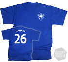 Riyad Mahrez Leicester City Football Retro T-Shirt in Mens Ladies and Kids sizes