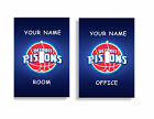 PERSONALIZED Detroit Pistons Light Switch Covers NBA Basketball Home Decor on eBay