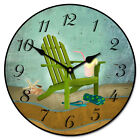Large wall Clock, Summertime Clock 12- 48 Whisper Quiet, Non-Ticking