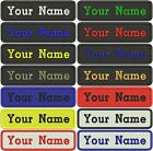 CUSTOM EMBROIDERED NAME Sew / Iron on Patch Rectangular Tag (IRON)