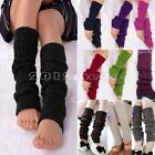 Fashion Women Winter Warm Leg Warmers Cable Knit Knitted Crochet Socks Leggings