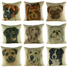 "'WAGGY DOGZ' Dog Cushion Covers, approx.17"" x 17"" Made in UK 13 Breeds"
