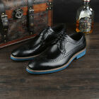 New Men's Dress Shoes Formal Real Leather Lace up Black Brown W3190