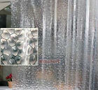 New 72 Inch 3D Water Cube Design Shower Curtain Bathroom Waterproof Fabric