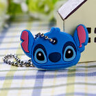 Kawaii Cartoon Animal Silicone Key Caps Covers Keychain Shell Keyring