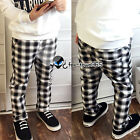 Spring Autumn Baby Child Kids Boy White+Black Plaid Check Long Trousers 3-9Y