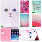 Cute White Cat Sakura Wallet card Leather Case Cover For Samsung / Apple Tablet