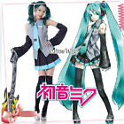 Vocaloid Miku Hatsune Cosplay Costume Any Size with accessory Fashion Clothing