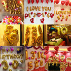 Letters Number 1-9 Foil Balloons Happy Birthday Party Wedding A-Z Word Ballon