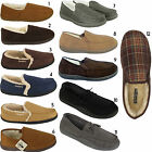 MENS FUR LINED SLIPPERS LIGHT WEIGHT WARM MOCCASIN SLIPPERS  DRIVING SHOES SIZE