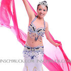 C918 Professional Belly Dancing Costume 2 Pieces BRA Belt New Collection