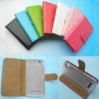 For MEDION Smartphone--Wallet Folder Stand Flip PU Leather skin Case Cover