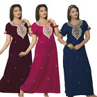 NEW LADIES 100% COTTON LONG NIGHTDRESS NIGHTY CHEMISE EMBROIDERY DETAILED SIZE 1