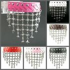 UH029 Shiny Net Crystal Dancing Women Bracelet Leather Wristband Cuff Lolita