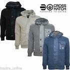 MENS BRANDED CROSSHATCH BOYS DESIGNER KNITTED FUR HOODED FLEECE LINED CARDIGAN