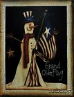 "TLC33 Grand Olde Flag Crawford 11""x14"" framed or unframed art snowman patriotic"