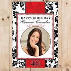 Personalised 18th 21st 30th 40th 50th Birthday Party PHOTO Poster Banner N40