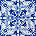 TILES DECALS SET OF 24 Portuguese Tile Decals Stickers for Ceramic Kitchens h13