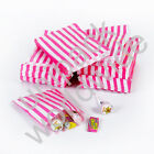 Pink Candy Stripe Gift Wedding Paper Party Bags ***Choose own Size & Quantity***