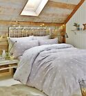 Catherine Lansfield Brushed Cotton Natural Polka Dot Reversible Bedding