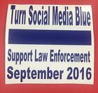 Turn Social Media Blue 2016 - Official Decal - Support Law Enforcment $3.0 USD on eBay