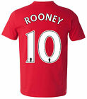 Personalised Mens Ladies Kids Manchester United Style T-Shirt Tee S M L XL XXL