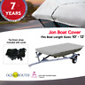 HEAVY DUTY 100% SOLUTION DYED POLYESTER JON BOAT COVER LENGTH 10'-12'